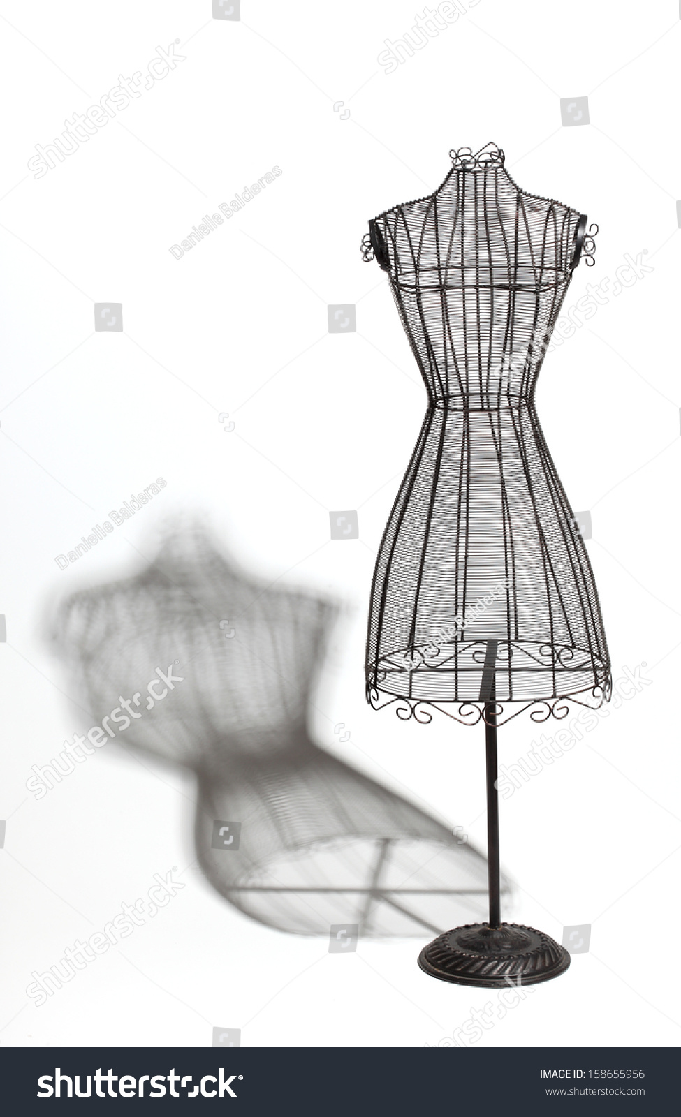 Royalty-free Vintage wire dress form with shadow. #158655956 Stock ...
