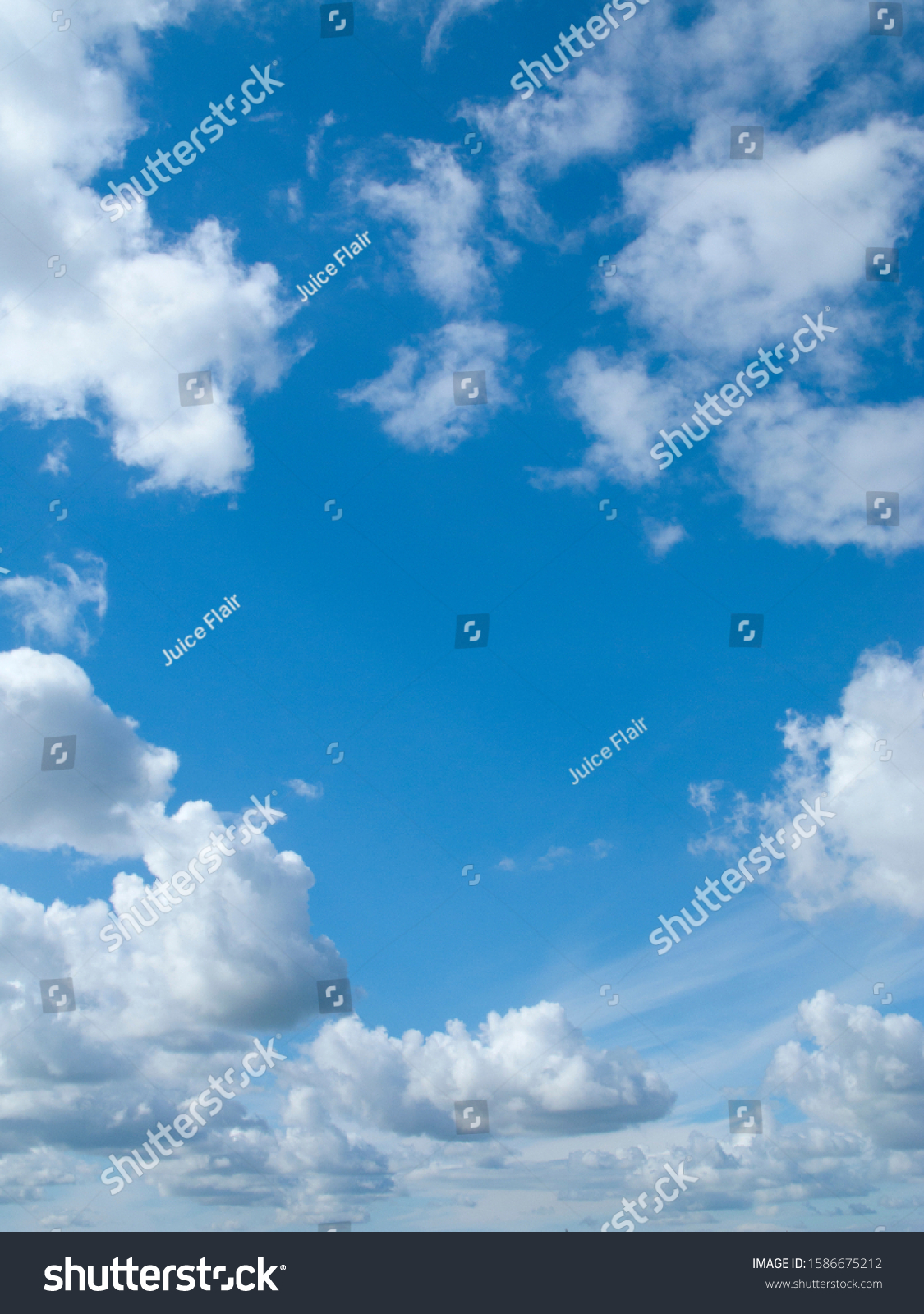 Clouds floating in blue sky #1586675212