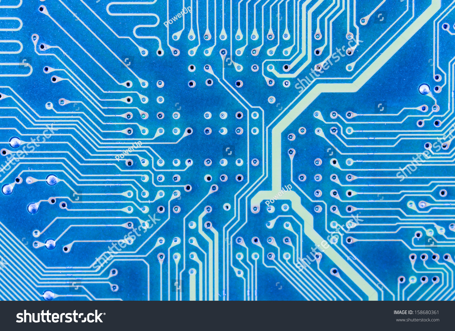 Close Up Of Printed Blue Computer Circuit Board Ez Canvas The