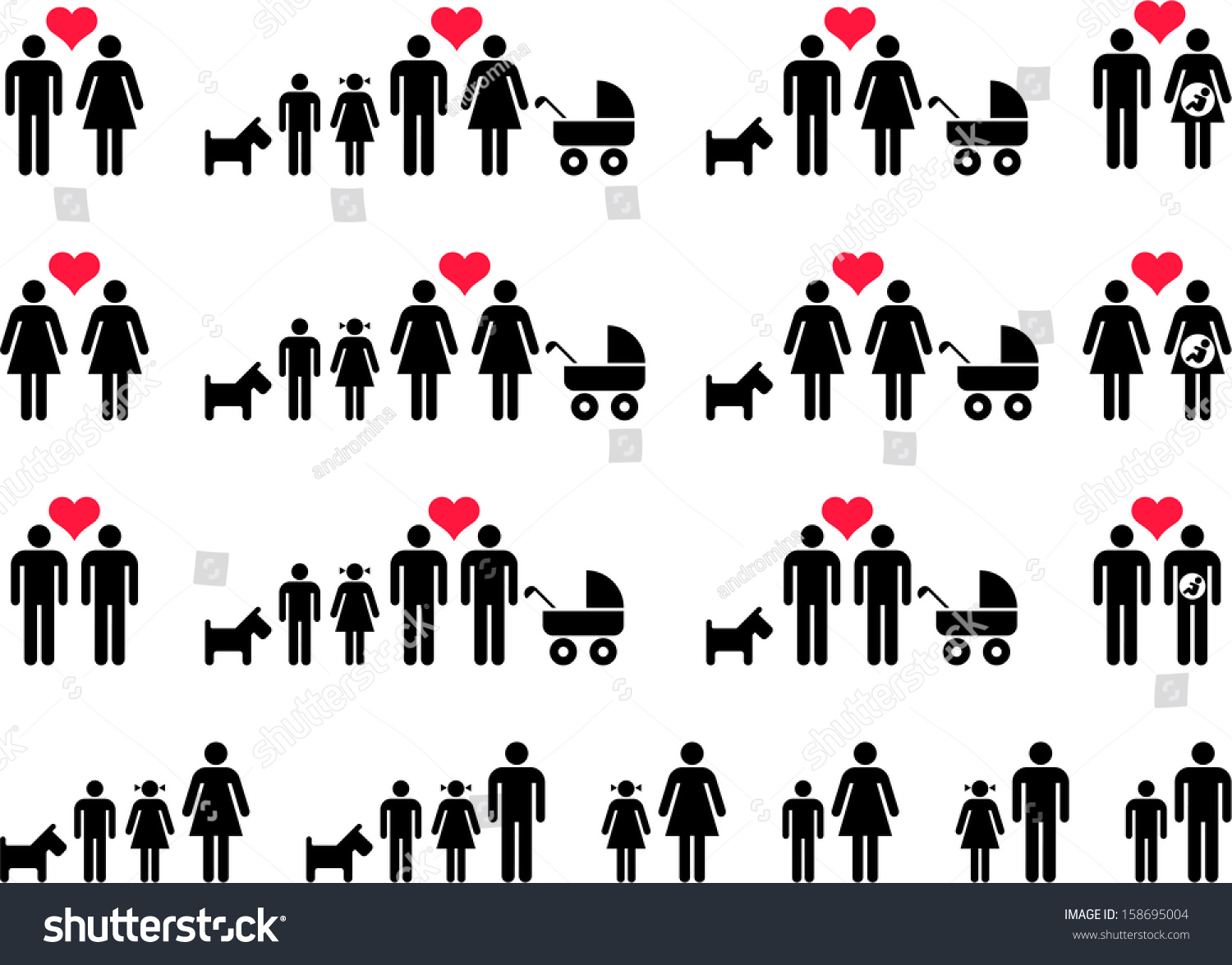 mother father and child relationship in various family types