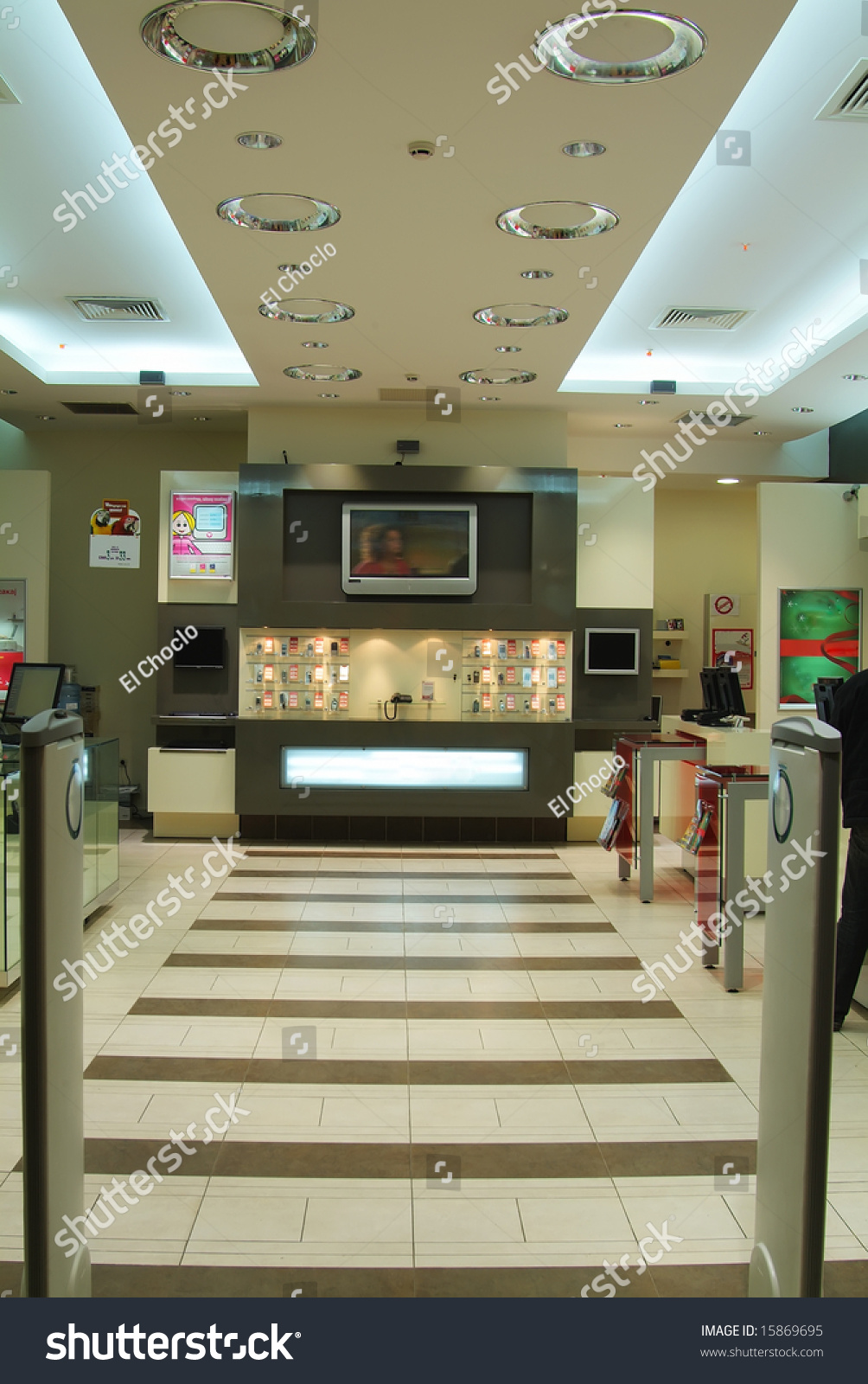 Modern Mobile Shop Interior Image Stock Photo Safe To Use 15869695