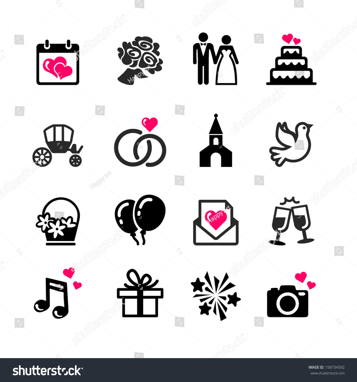 dating website icons for wedding