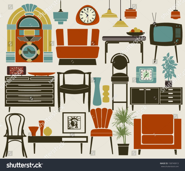 Retro furniture accessories appliances including