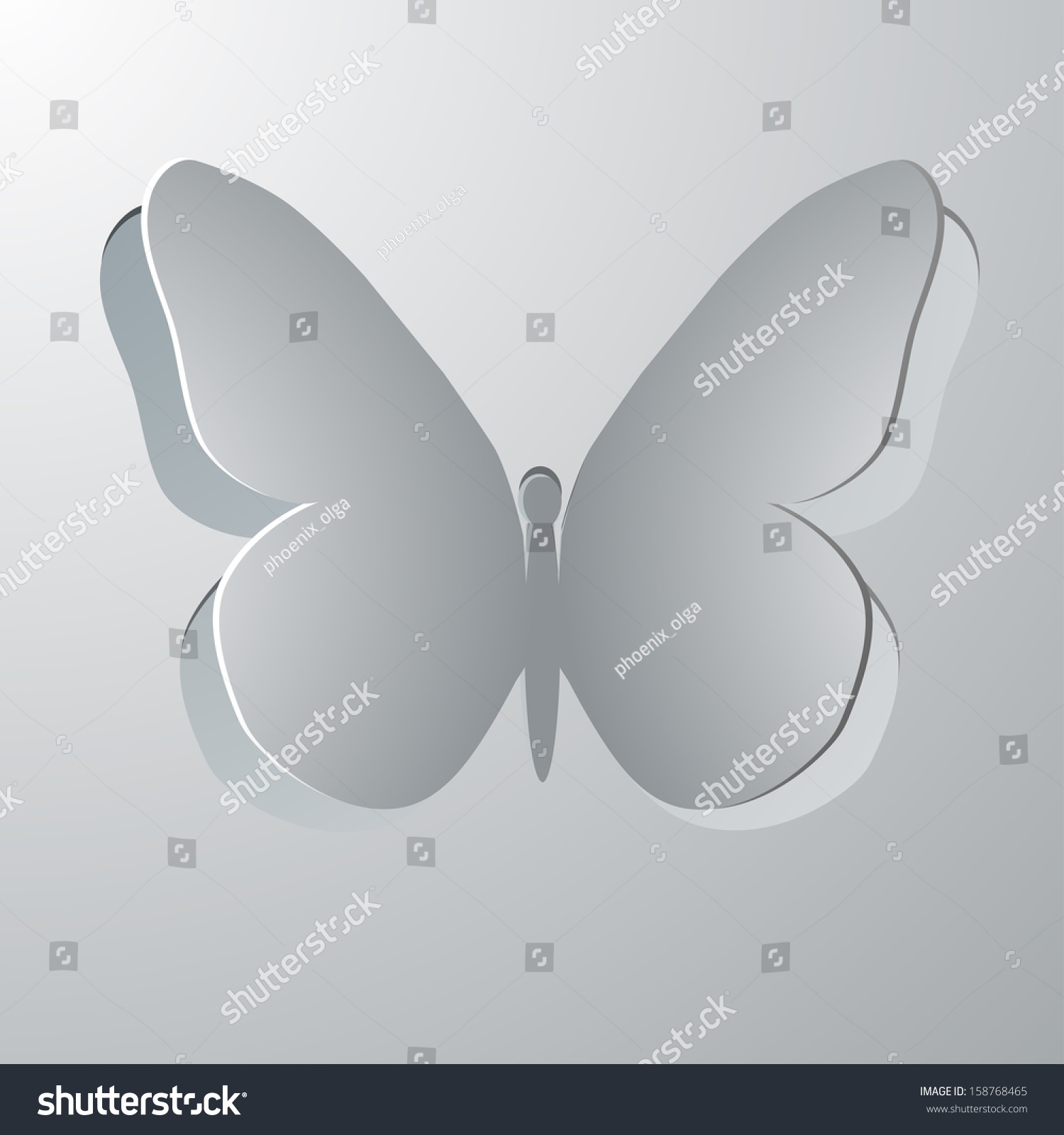 Butterfly decorative greeting card paper butterfly stock vector butterfly decorative greeting card with paper butterfly symbol butterfly cut out of paper biocorpaavc Image collections