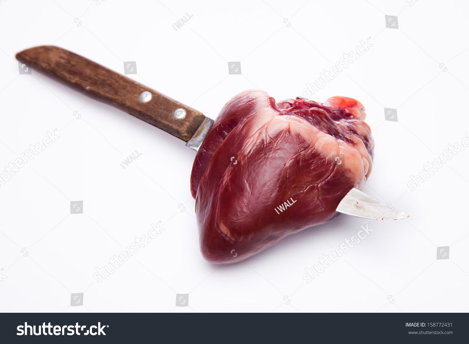 Realistic Knife In The Heart Drawing: Knife Through My Heart Stock Photo 158772431 : Shutterstock