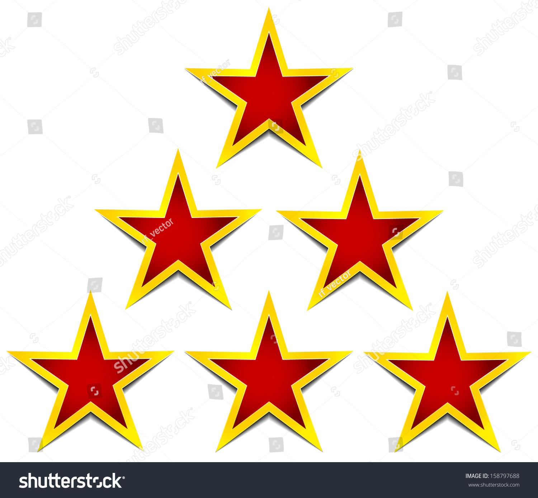 Stars Achievement Certification Premium Rating Decoration Stock