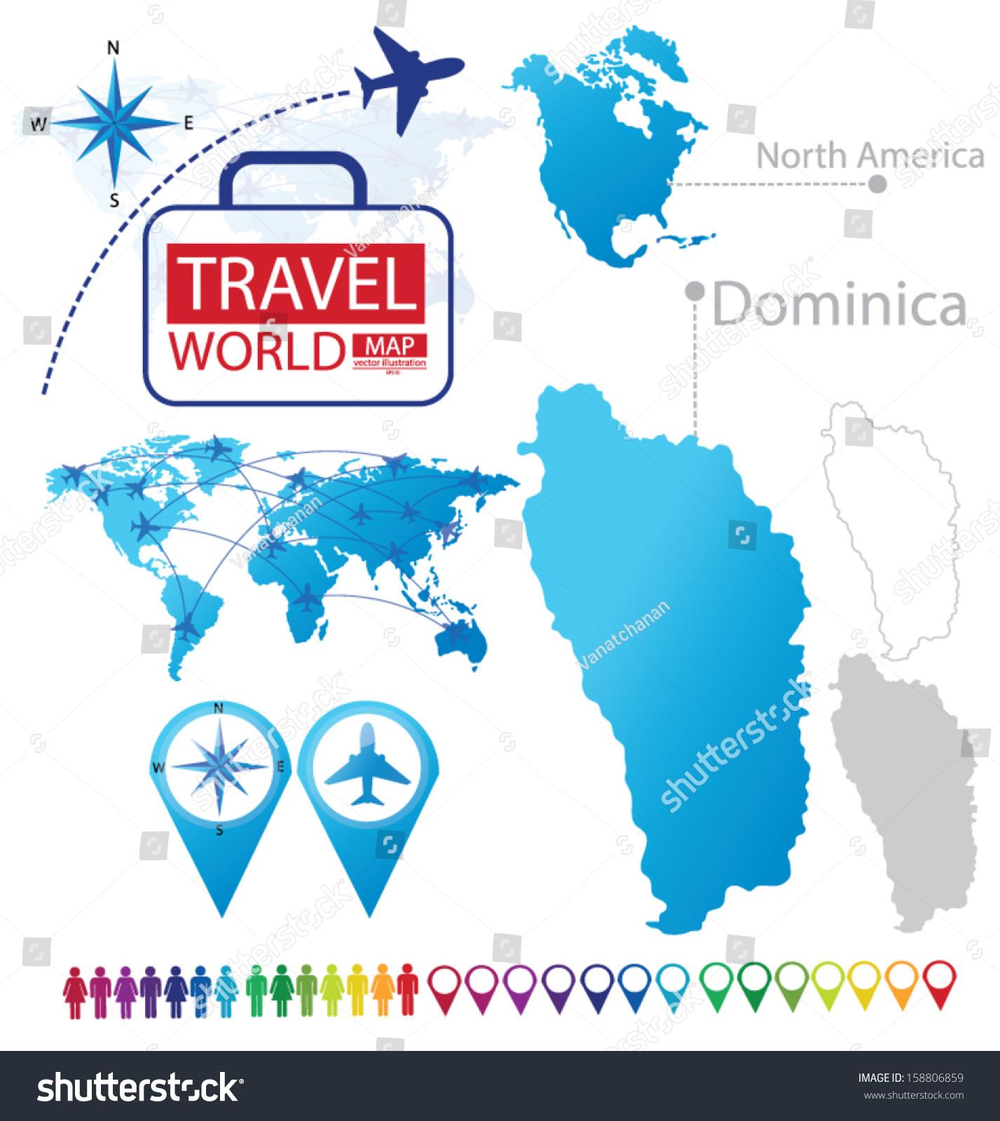 Vector De Stock Libre De Regalias Sobre Commonwealth Dominica North America World Map158806859