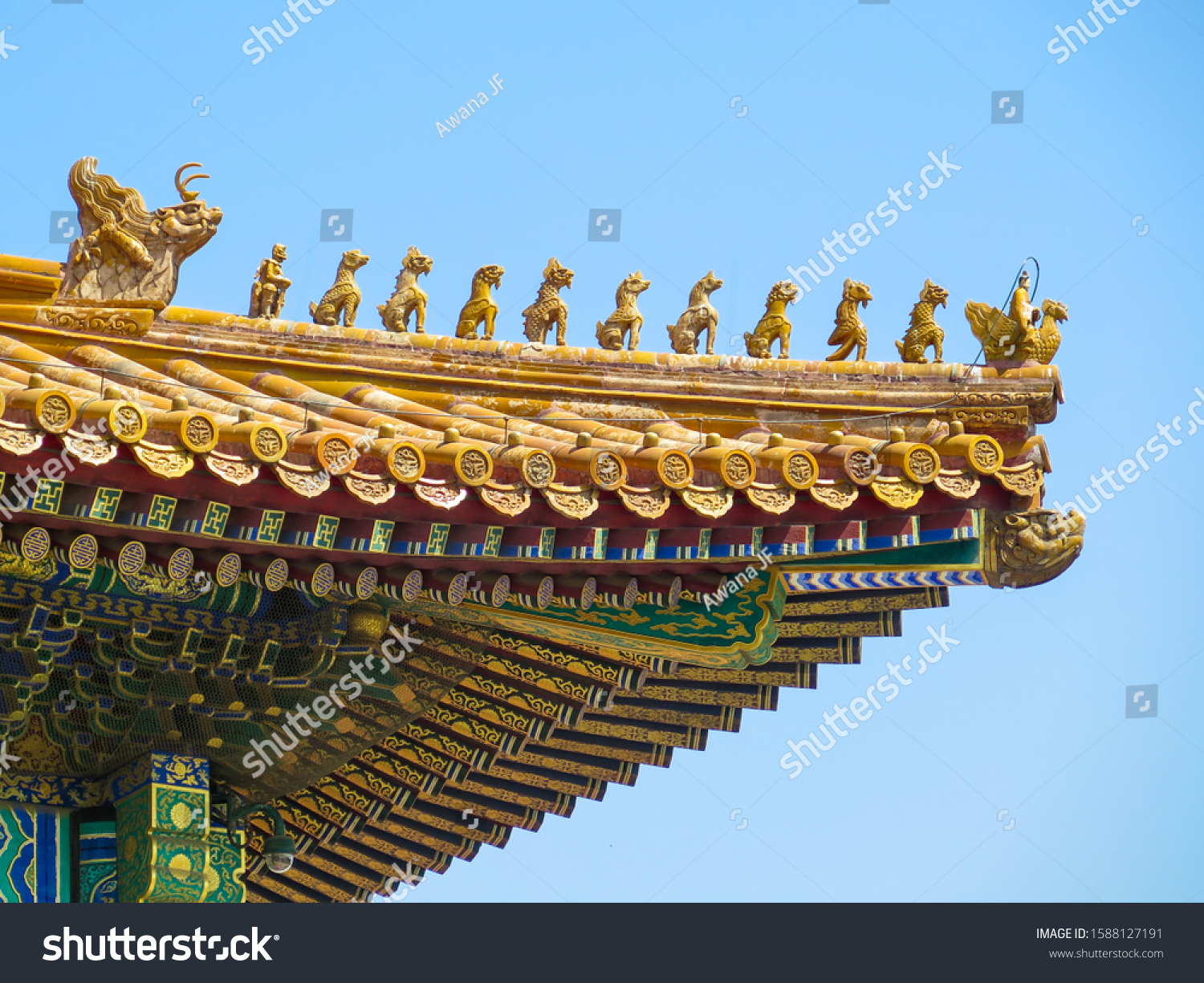 stock-photo-details-of-a-golden-traditio