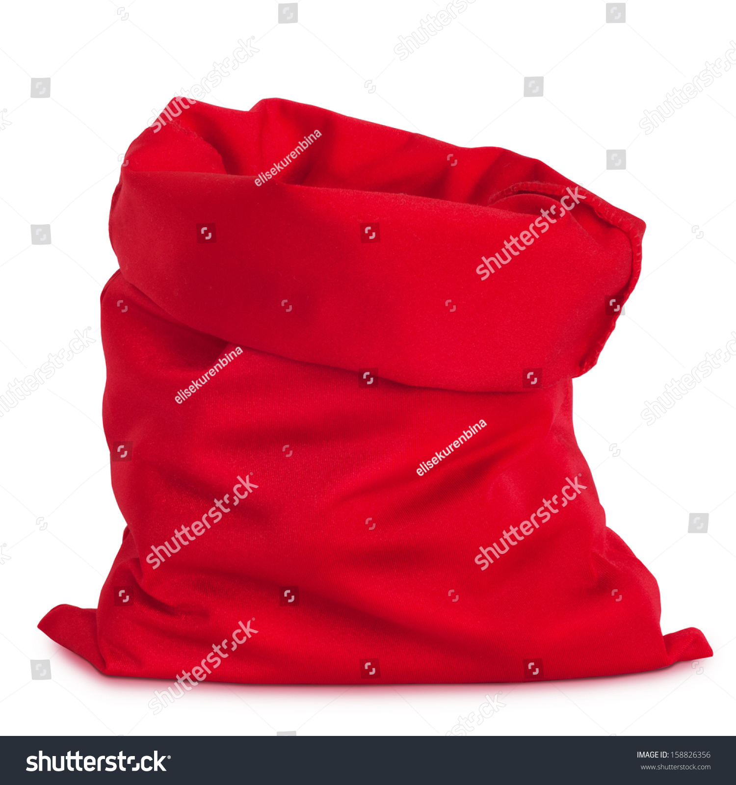 santa claus red bag isolated on stock photo 158826356 shutterstock