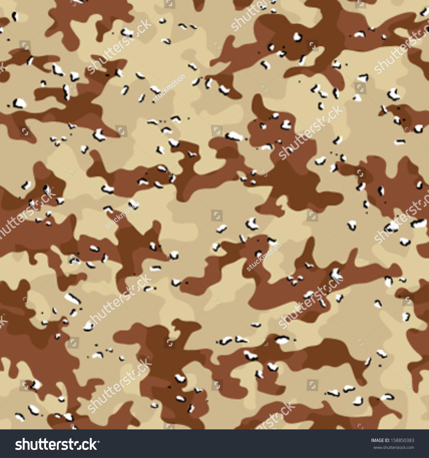 Desert Storm Camouflage Seamless Background Pattern
