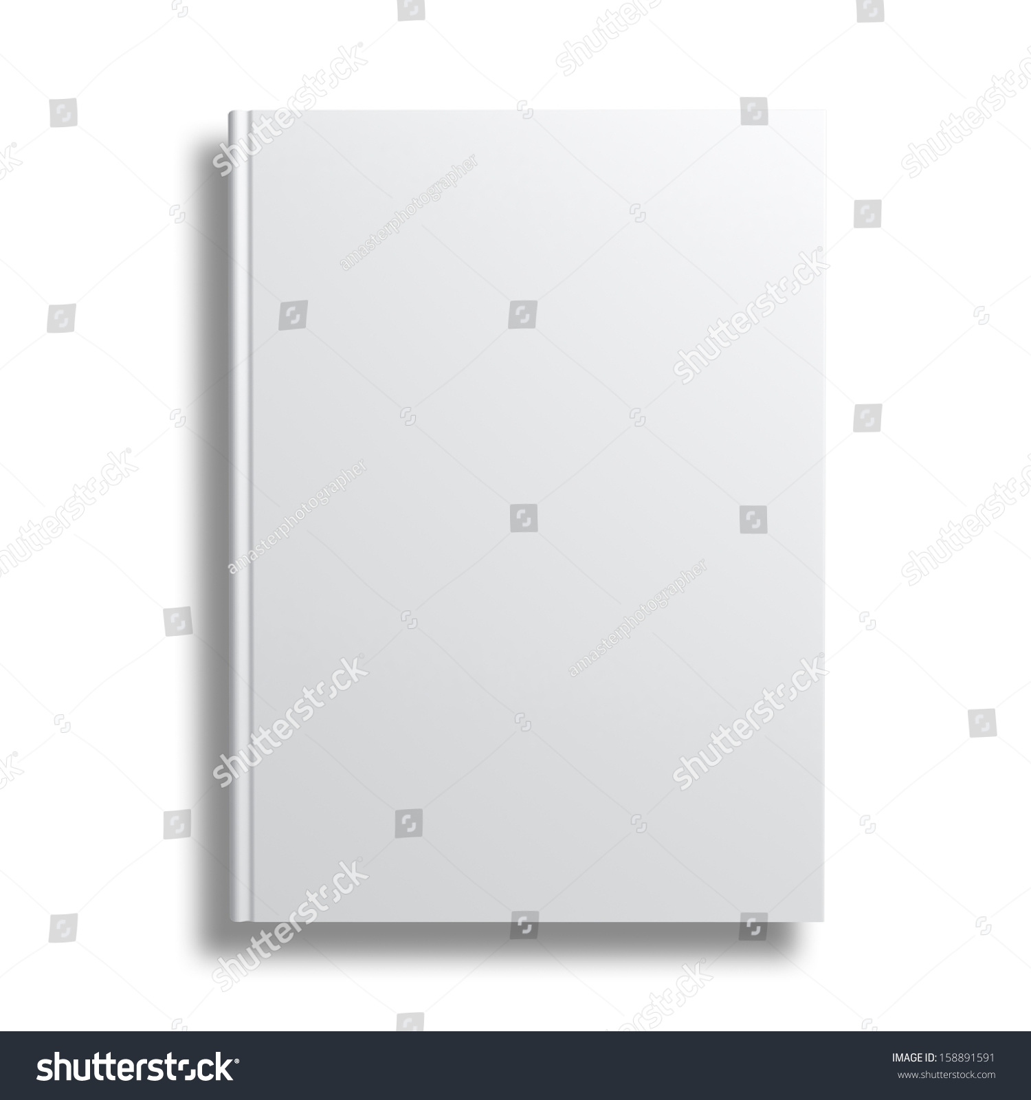 Book Cover White Xanax : Blank book cover isolated over white background with