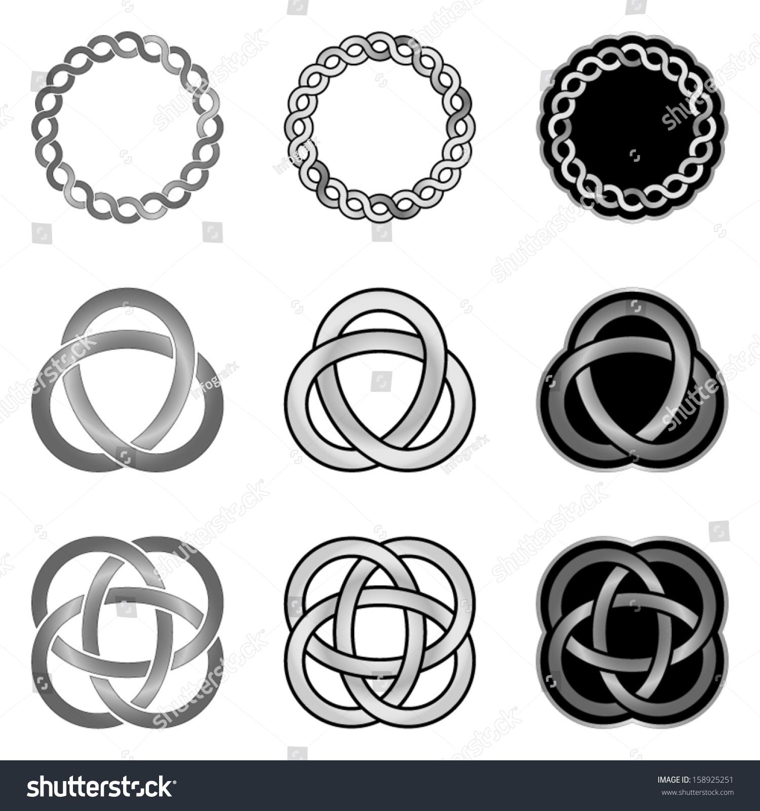Celtic knot design elements patterns models templates stock vector celtic knot design elements patterns models and templates pronofoot35fo Image collections