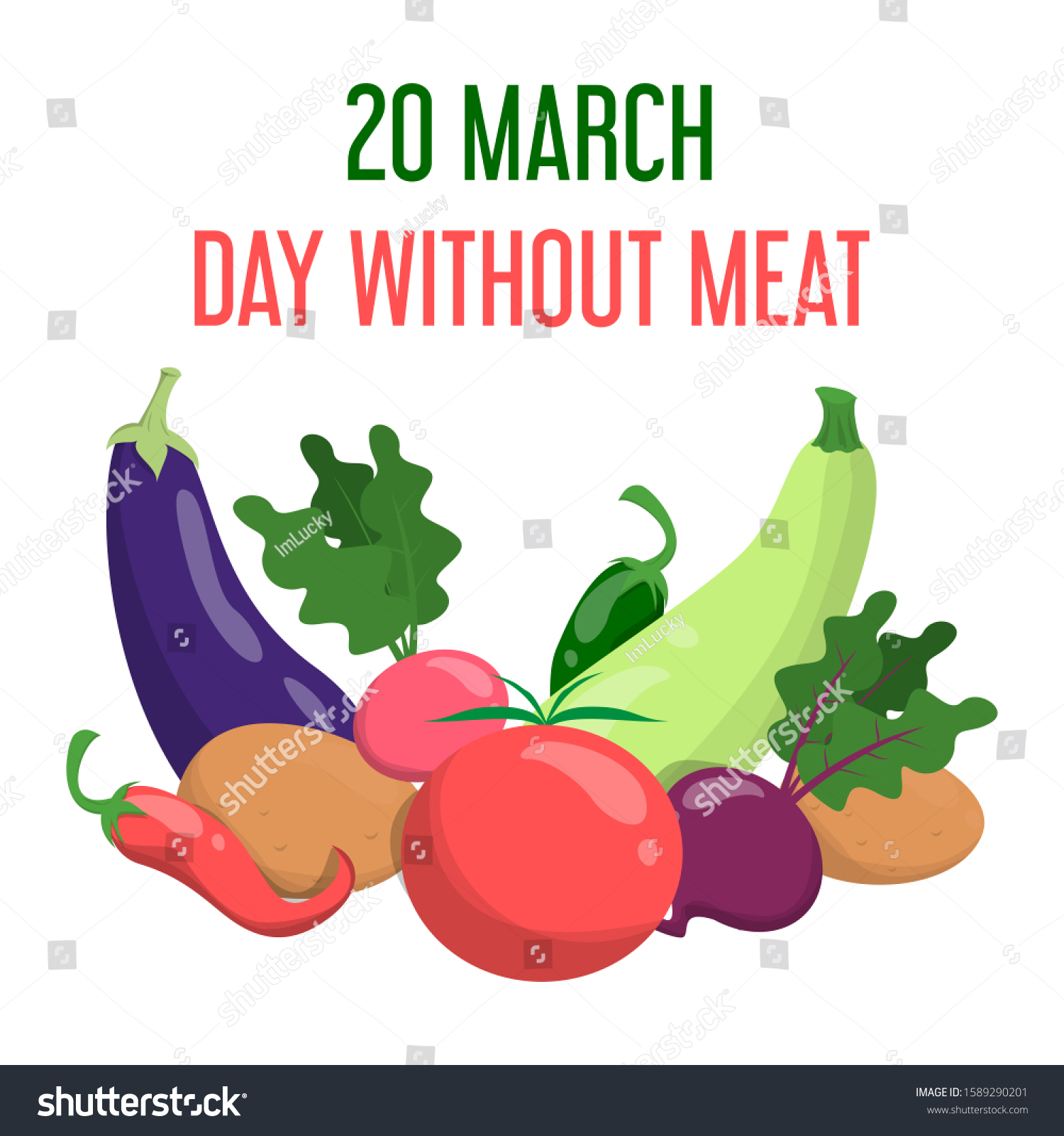 International Day Without Meat March Go Stock Vector Royalty Free 1589290201