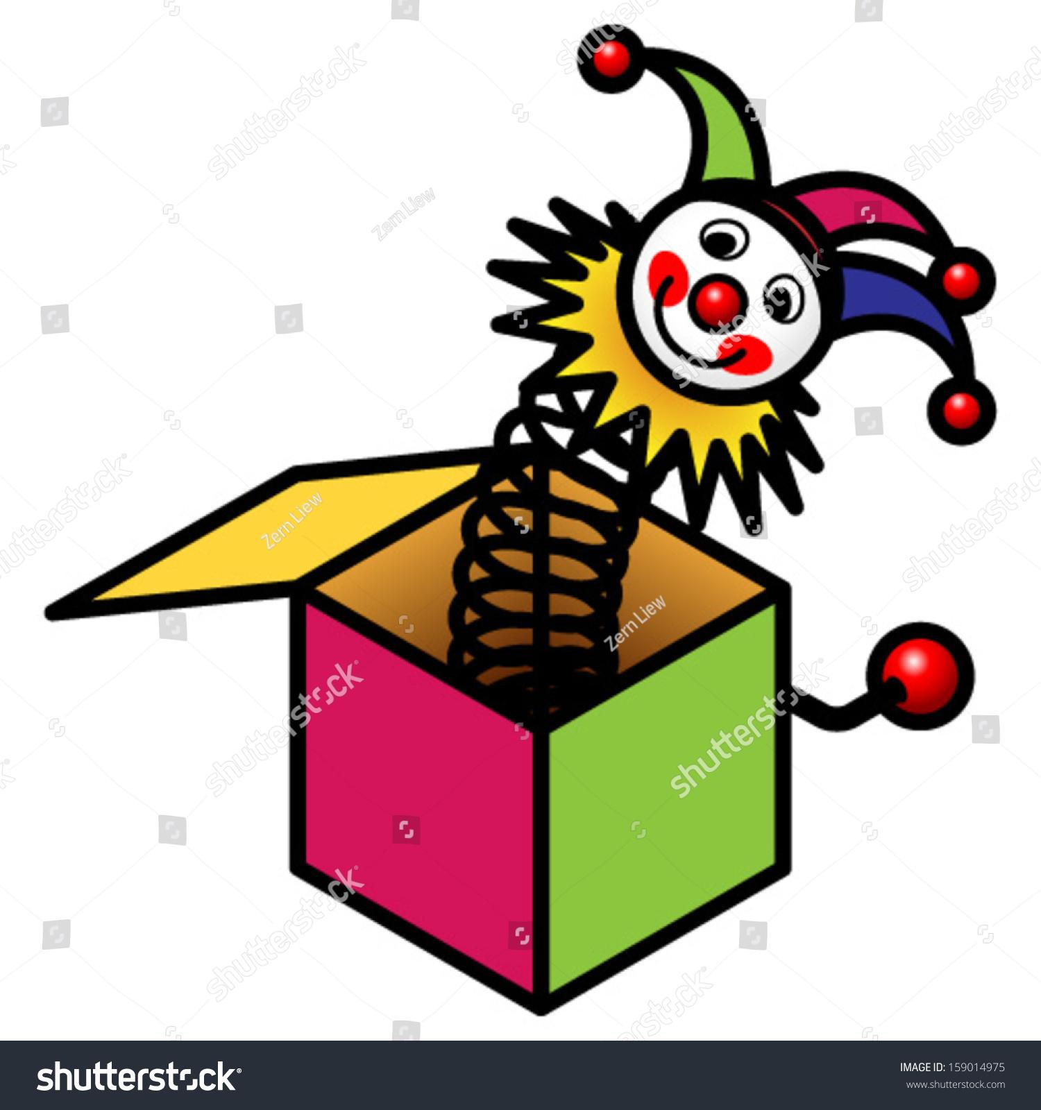 Jack Box Toy Stock Vector 159014975 - Shutterstock