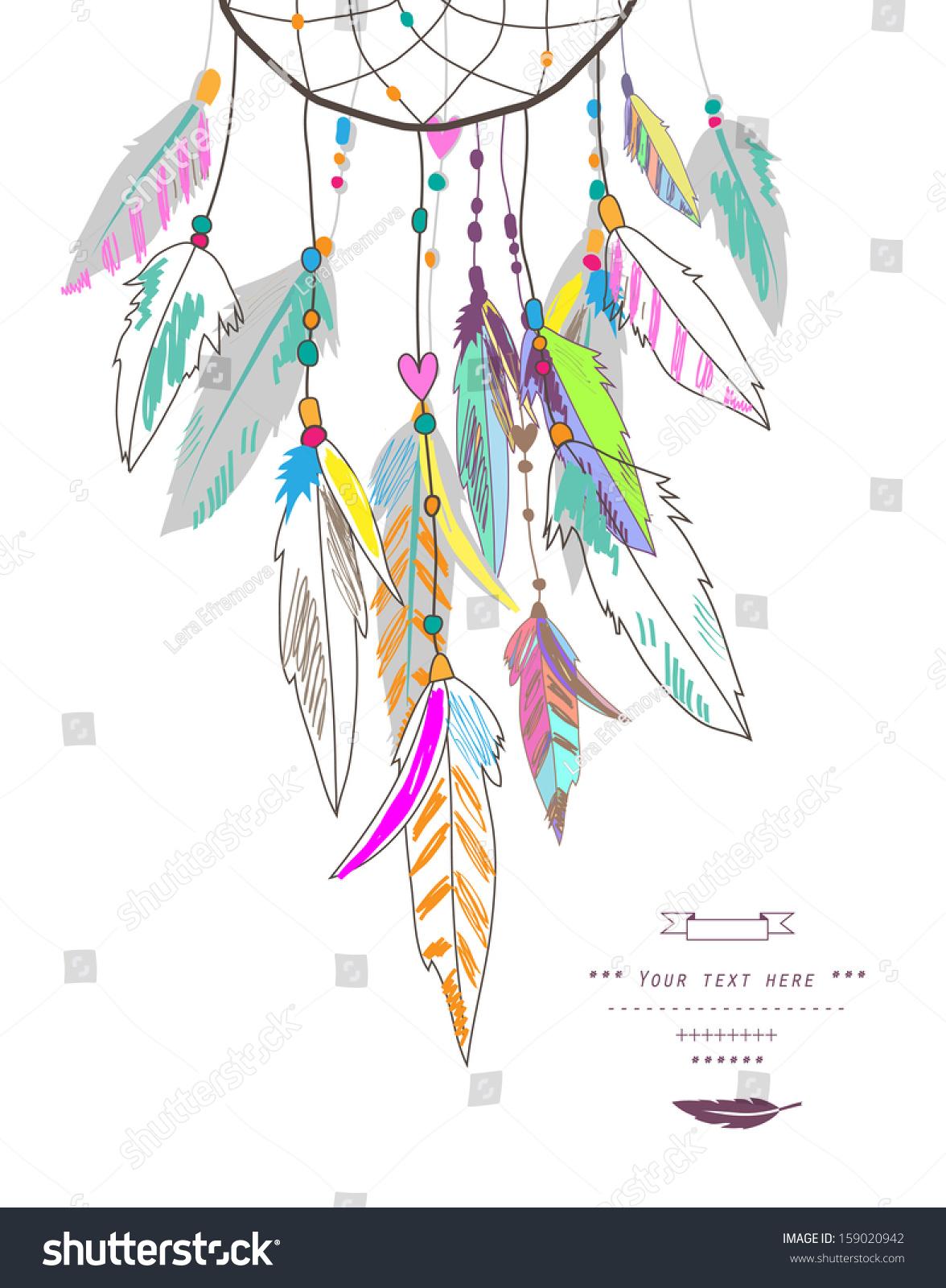 Dream Catcher Vector Illustration Stock Vector 159020942 ...