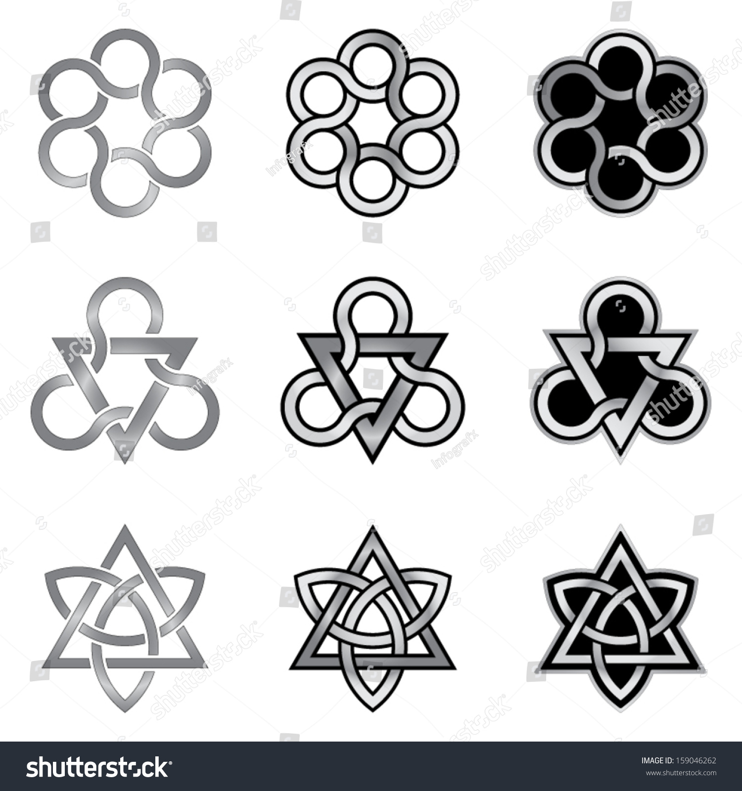 Celtic knot design elements patterns models templates stock vector celtic knot design elements patterns models templates stock vector 159046262 shutterstock pronofoot35fo Image collections