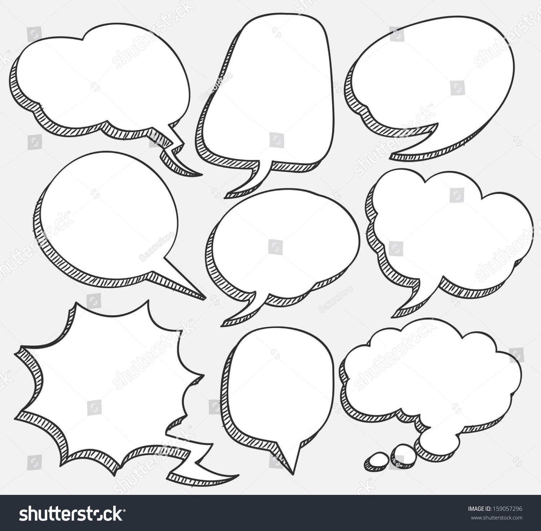 Comic Speech Bubble Stock Vector 159057296 - Shutterstock