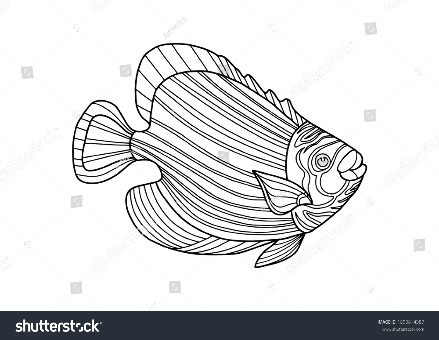 Ocean Fish Coloring Pages - High Quality Coloring Pages - Coloring ... | 1161x1500