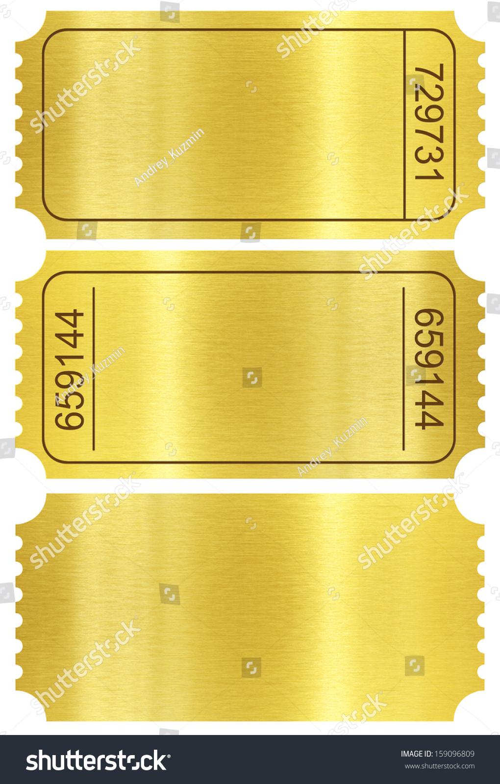 Ticket Set Golden Ticket Templates Set Stock Illustration ...