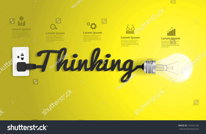 Thinking Concept Modern Design Template, Creative Light ...