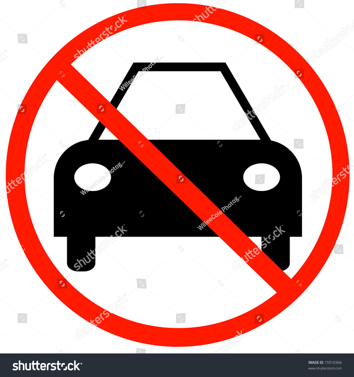 Car Not Allowed Symbol No Cars Stock Vector Royalty Free 15910366