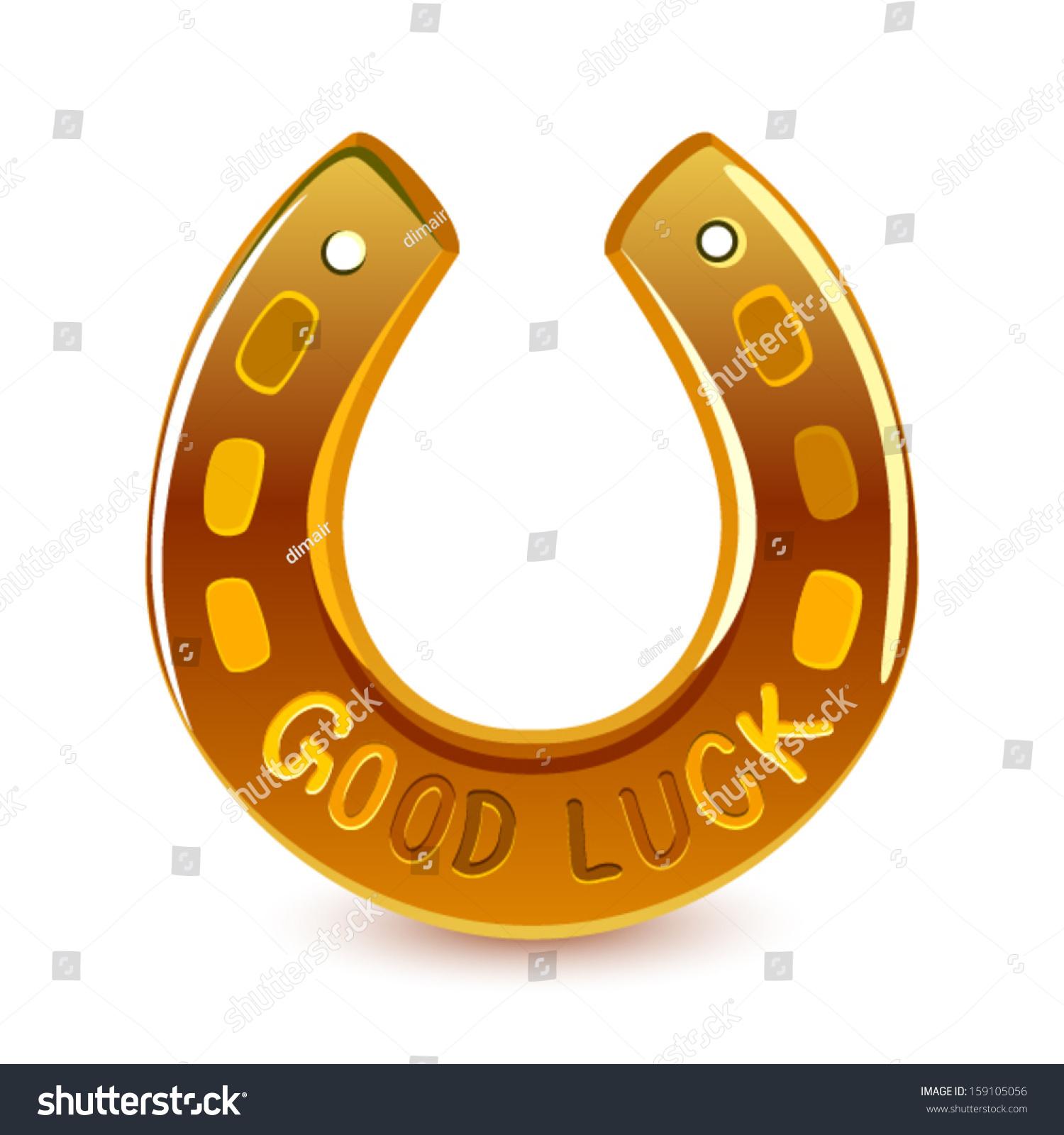 Gold horseshoe good luck vector stock vector 159105056 shutterstock gold horseshoe good luck vector biocorpaavc Choice Image