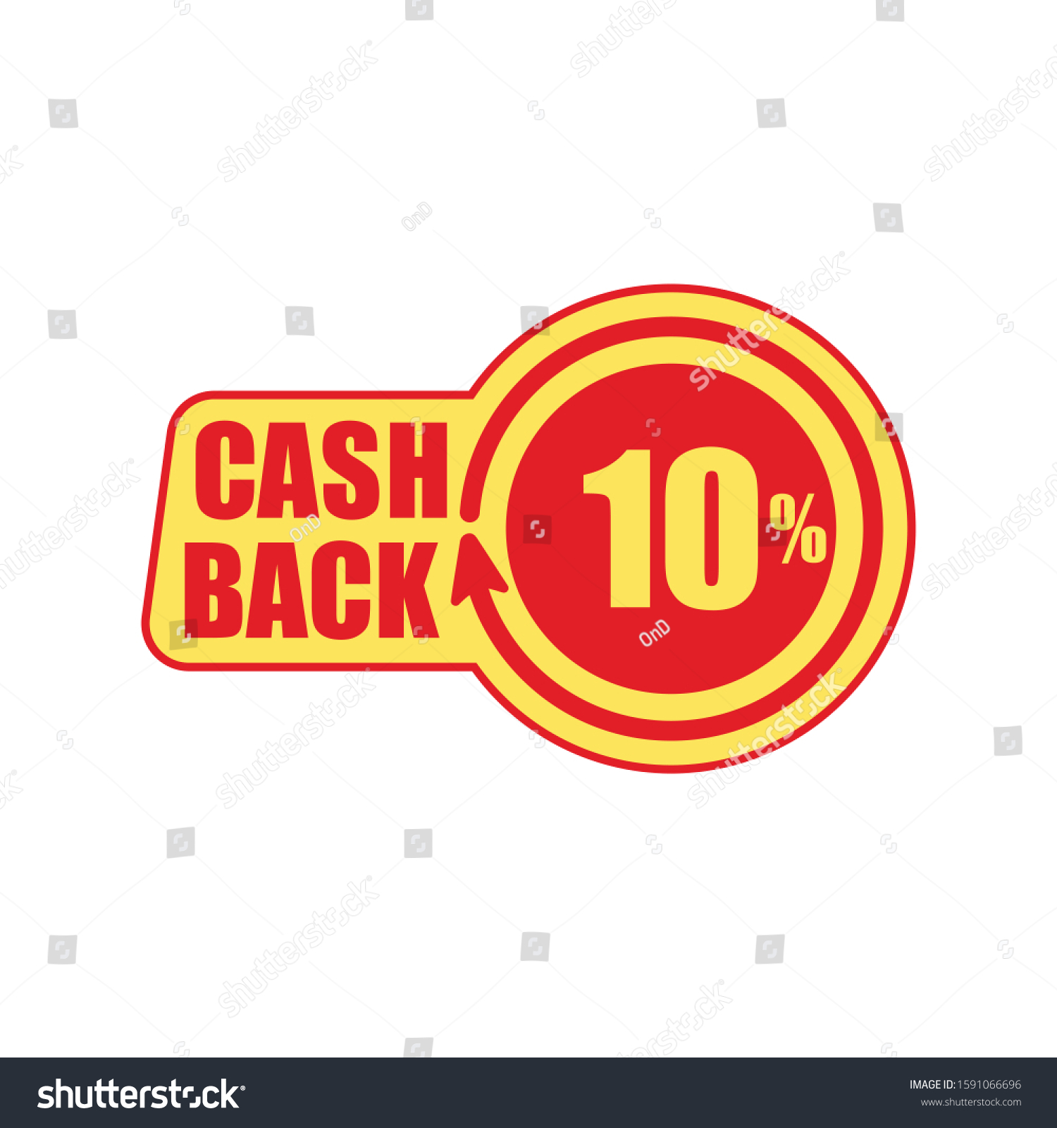 cashback ten percent concept sticker tag stock vector royalty free 1591066696 shutterstock