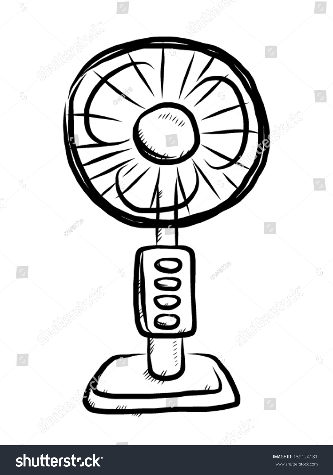 A Sketch Of A Electric Fan : Electric fan sketch