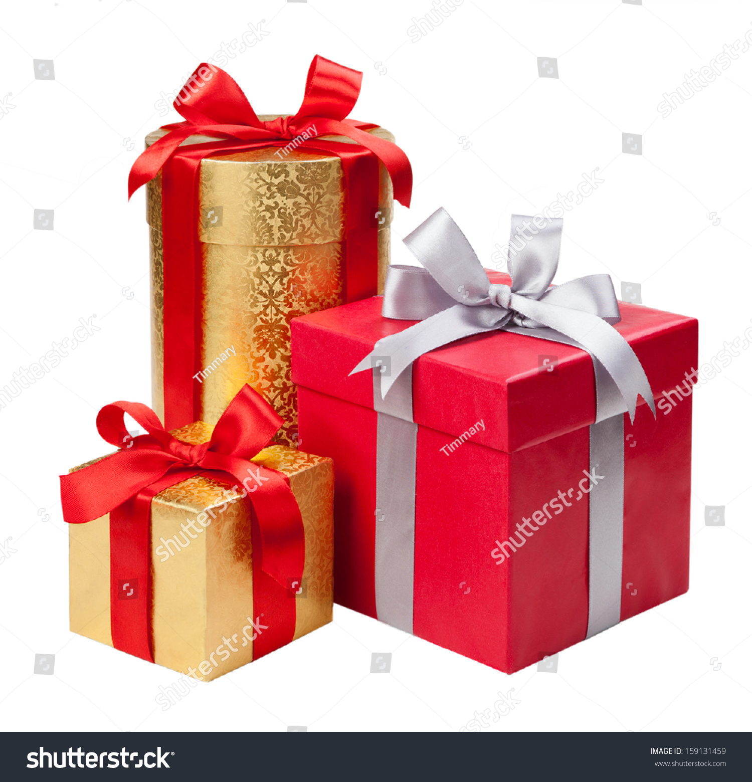 Gift boxes on white background #159131459