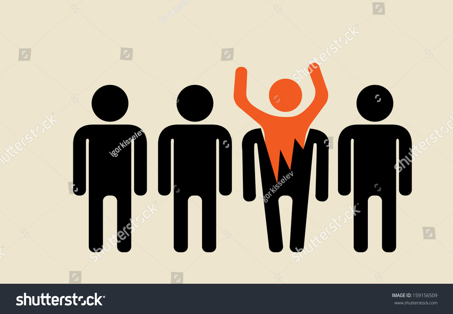 feel free be different crowd majority stock vector 159156509