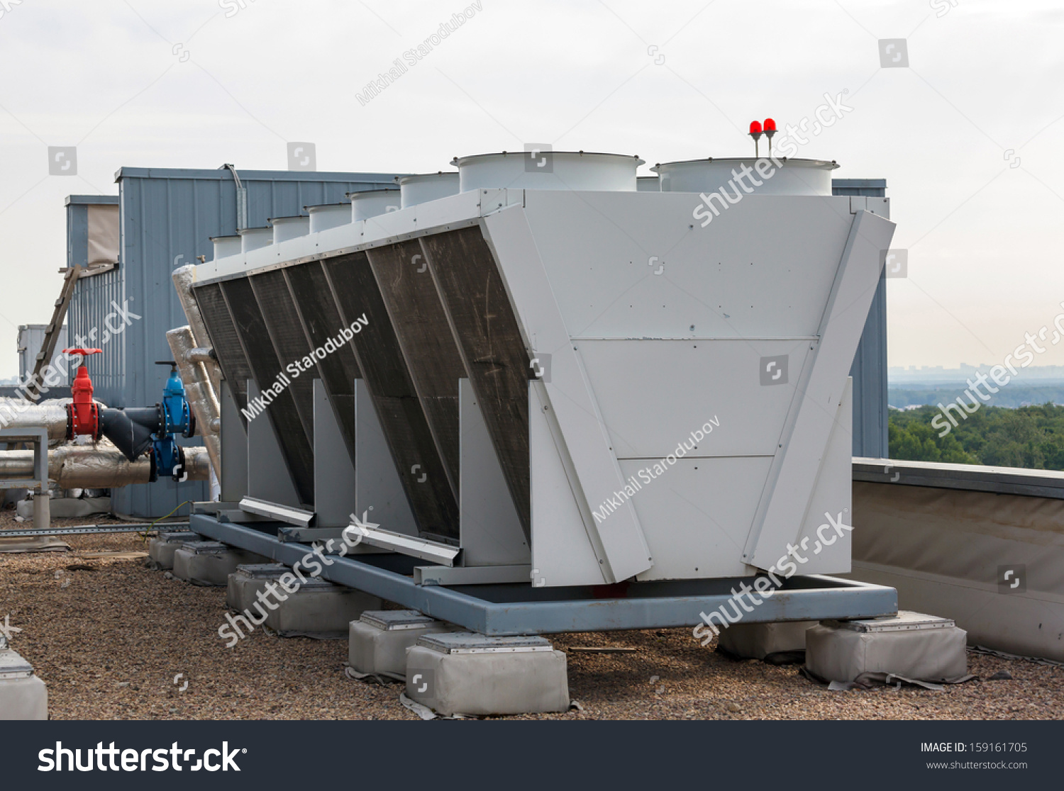 Industrial Air Conditioner On The Roof Stock Photo 159161705  #5F4C42