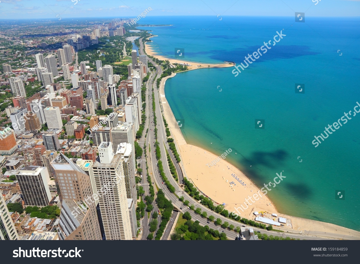Michigan City (IN) United States  city photo : , Illinois in the United States. City skyline with Lake Michigan ...