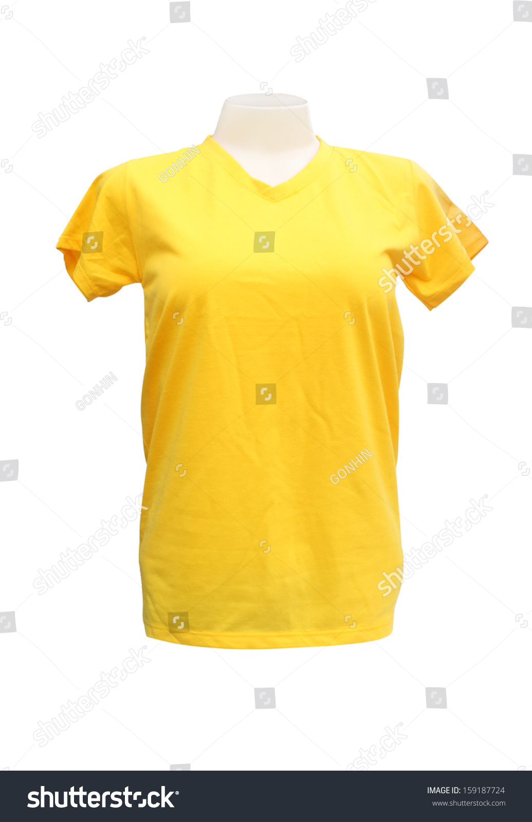 Mockup Of A Template Mans T Shirt Color On White Background