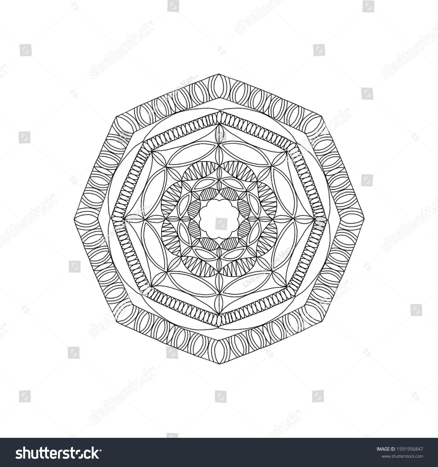 Mandala Designs Mandala Illustration Mandala Coloring ...
