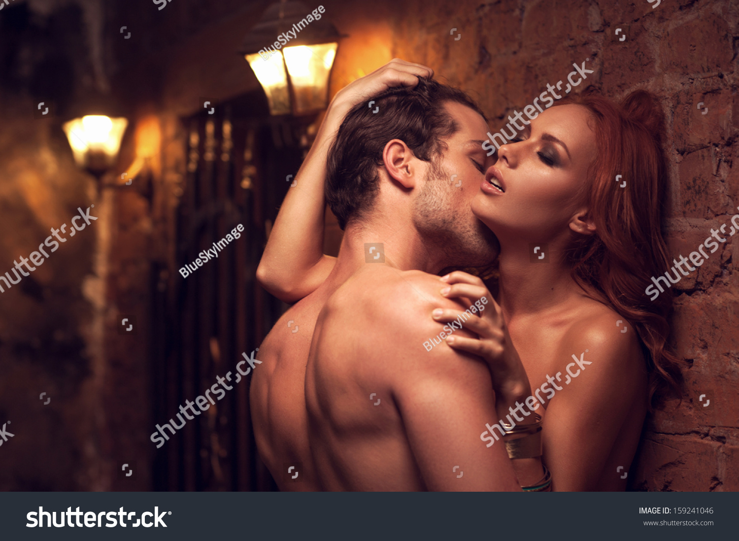 Beautiful Couple Having Sex Gorgeous Place Stock Photo -6234