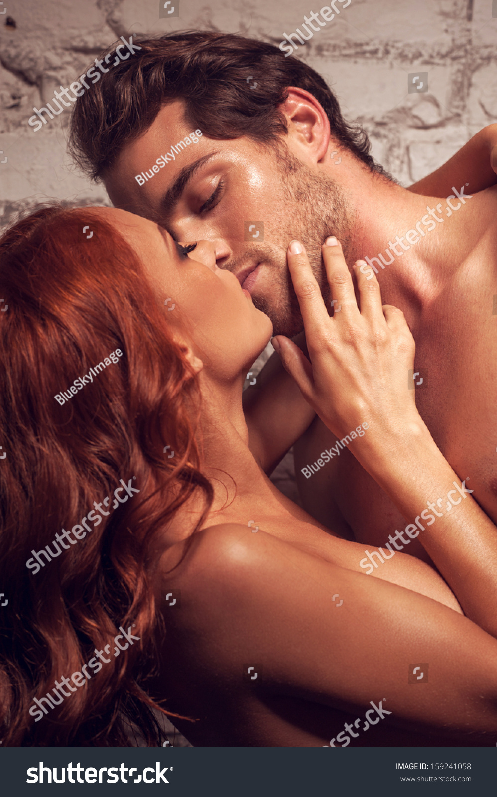 kissing and having sex