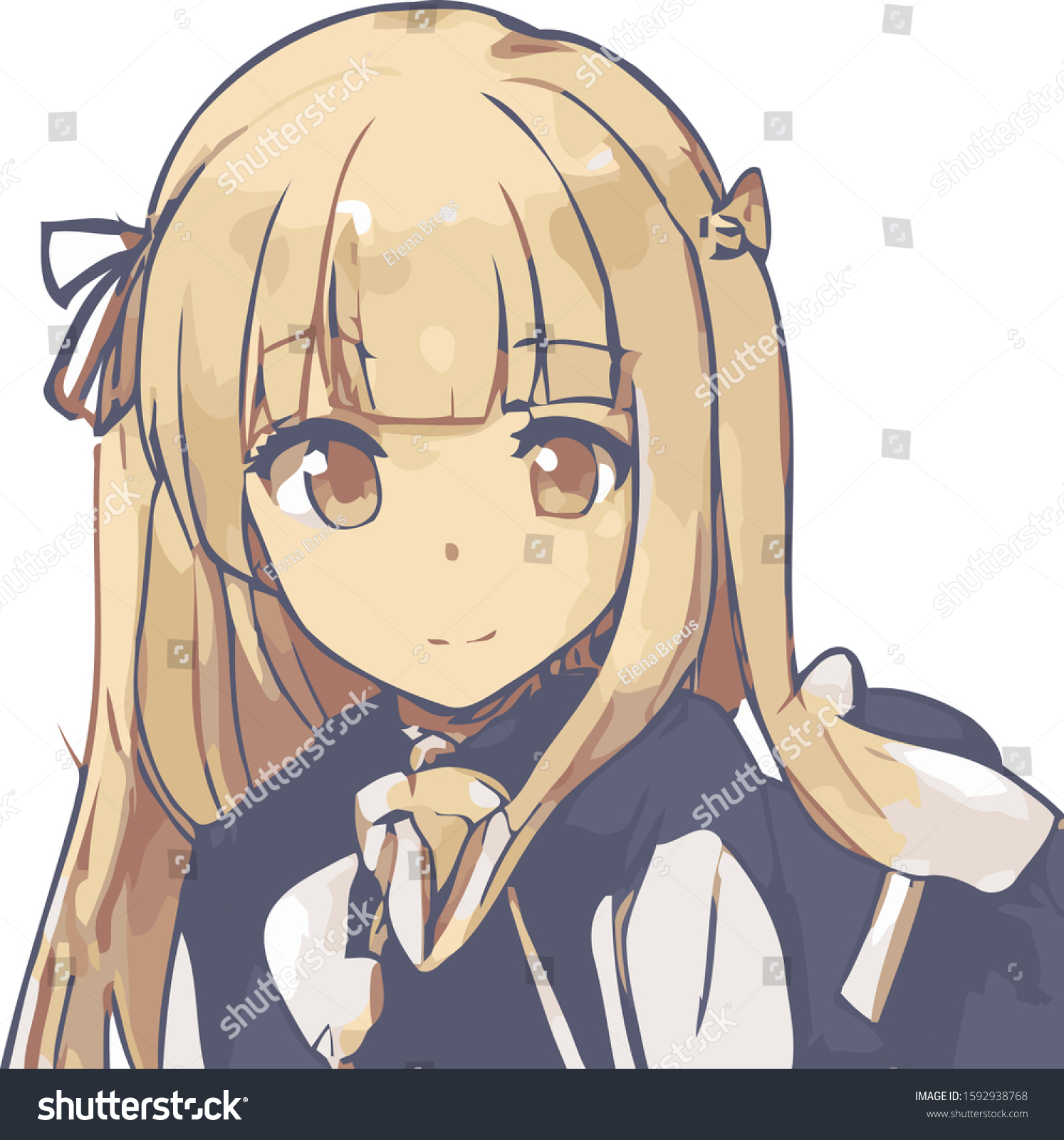 Anime blond girl