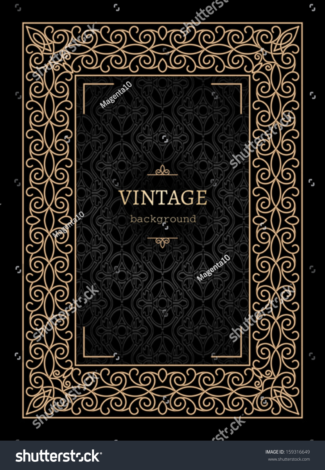 Vintage Book Cover Background : Vintage gold background book cover vector stock
