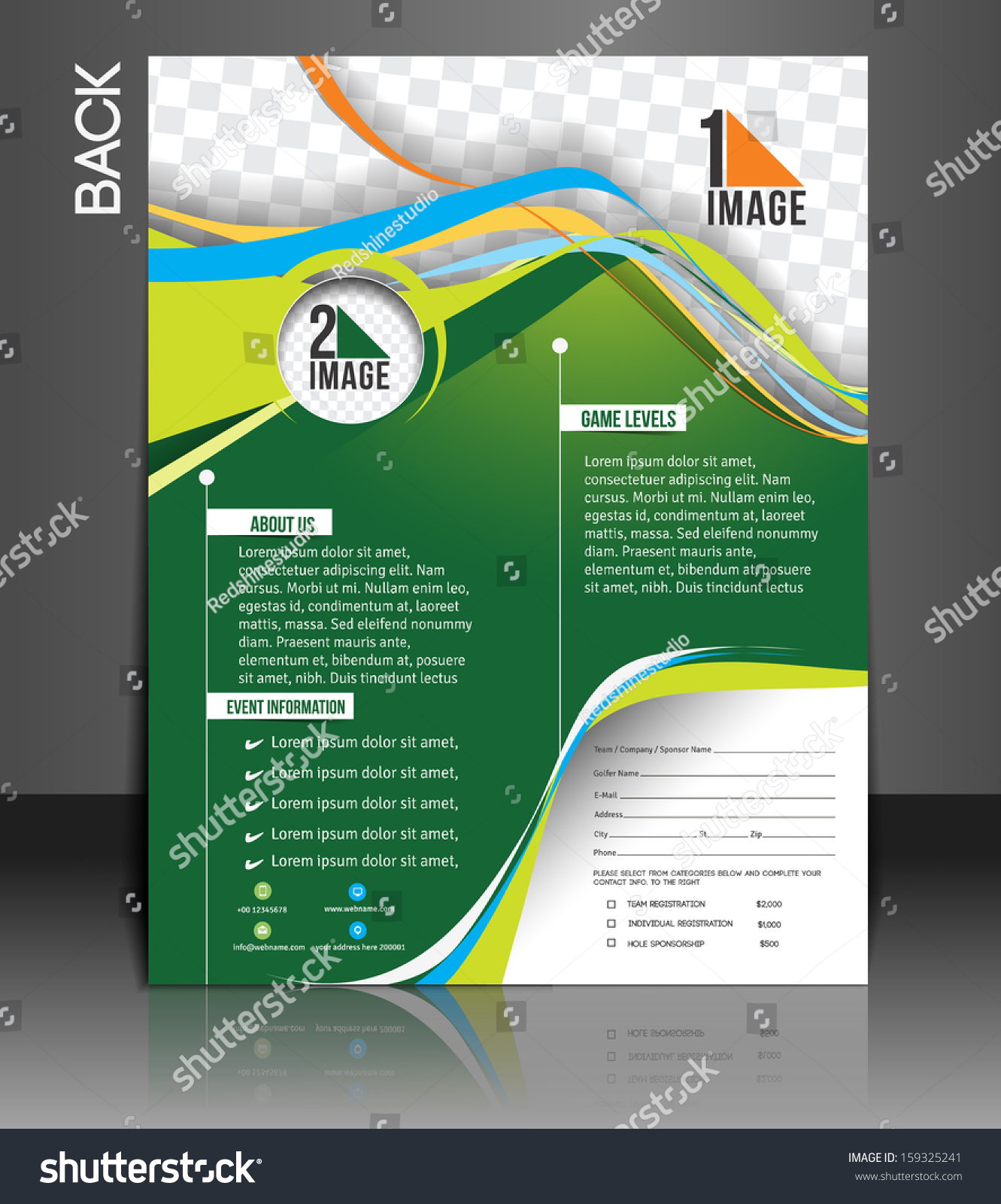 Tennis Competition Back Flyer Template Vector Illustration – Competition Flyer Template