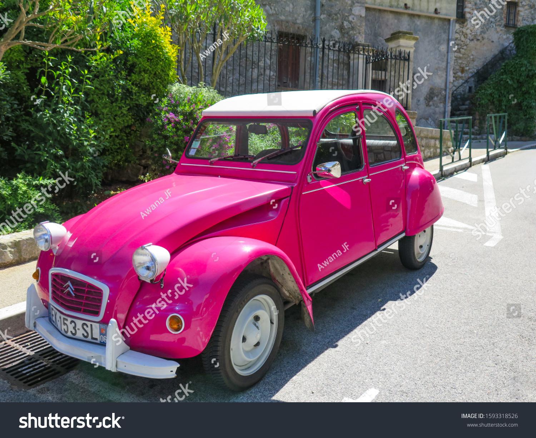 stock-photo-la-turbie-france-july-a-pink