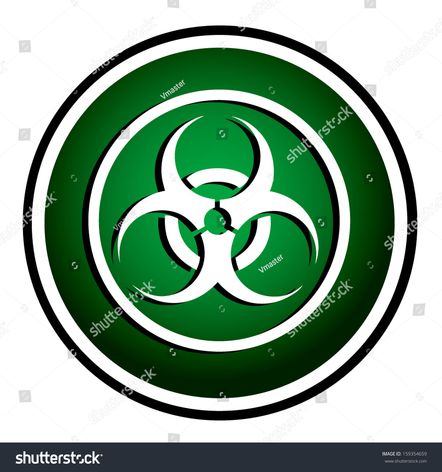 Warning symbol biohazard green round icon stock vector 159354659 warning symbol biohazard green round icon biocorpaavc Image collections