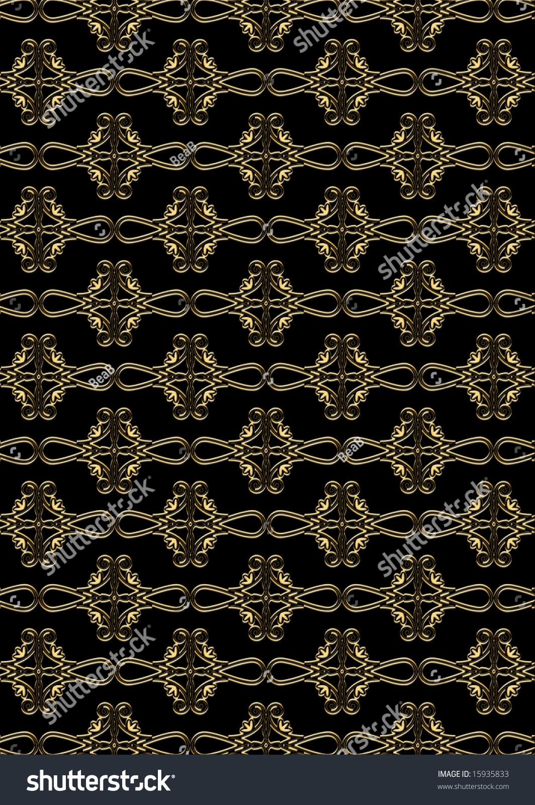 Black Gold Wallpaper Stock Illustration 15935833