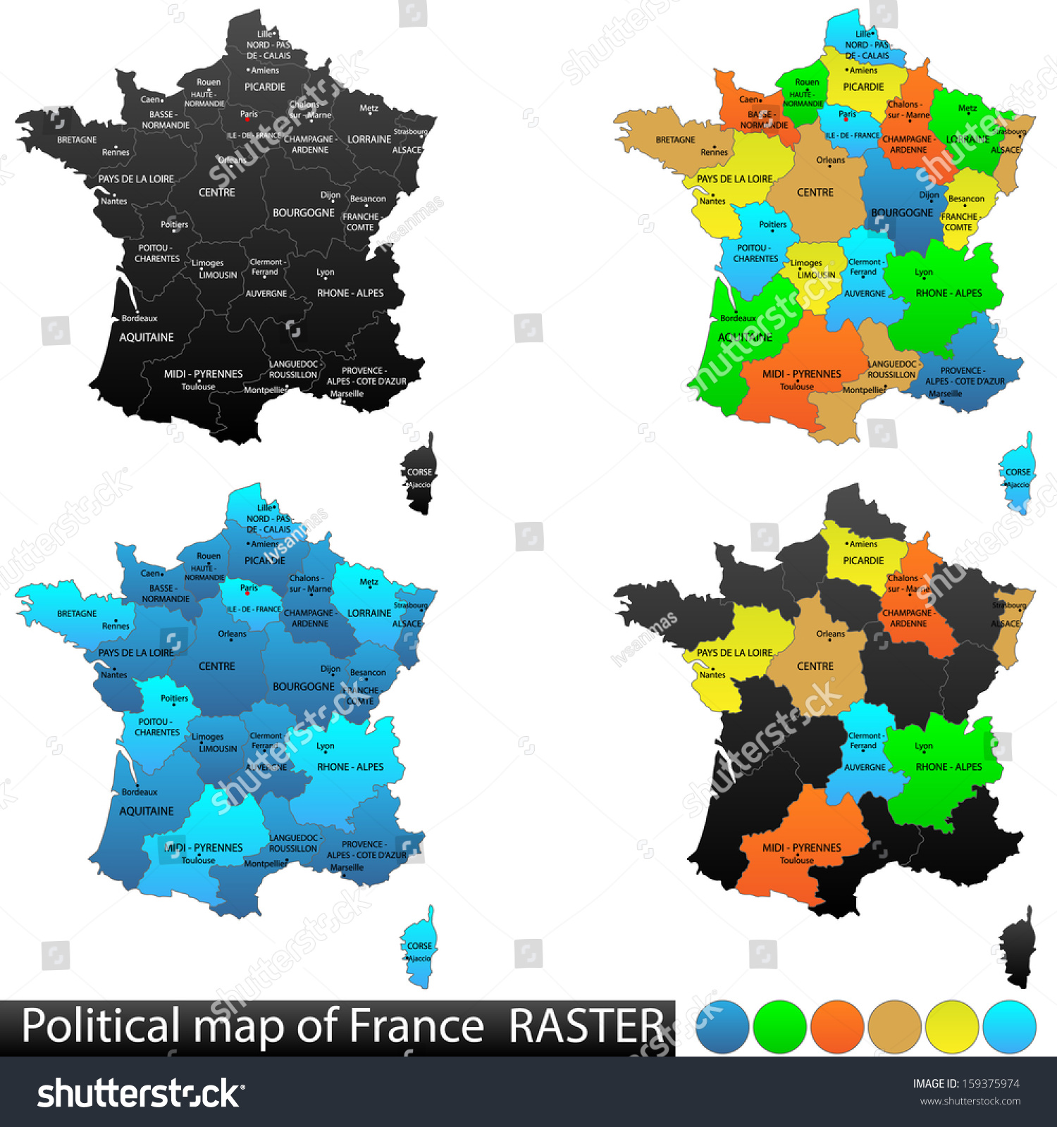 Royalty Free Stock Illustration of Political Location Map France ...