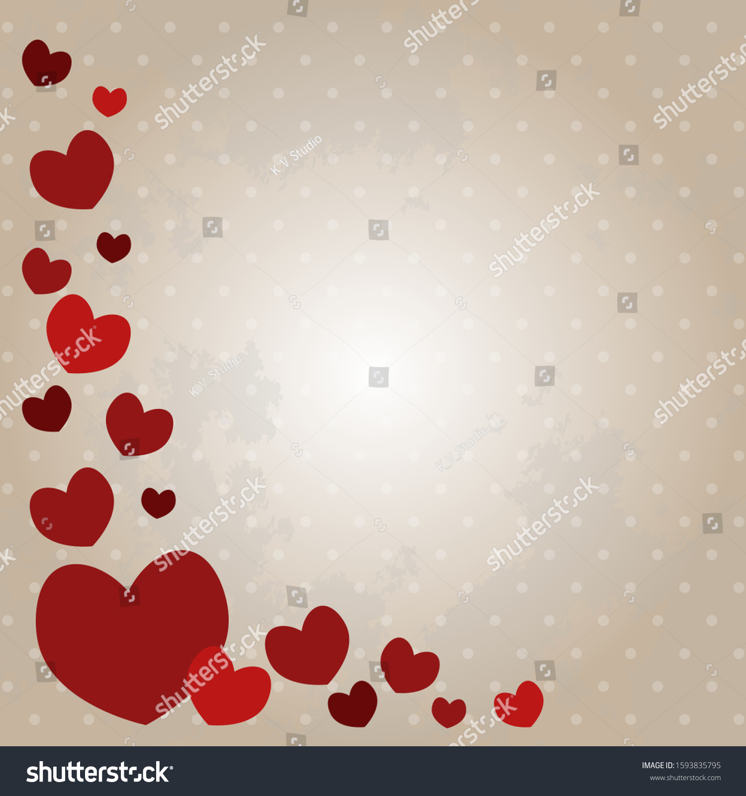 Valentines Day Vector Illustration Red Love Stock Vector Royalty Free 1593835795