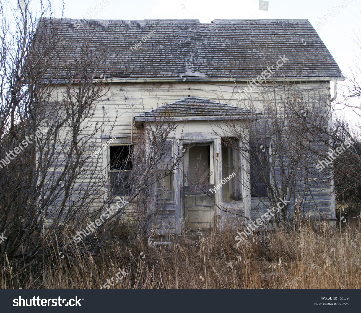 An Old Abandoned Building In Rural Saskatchewan. Stock
