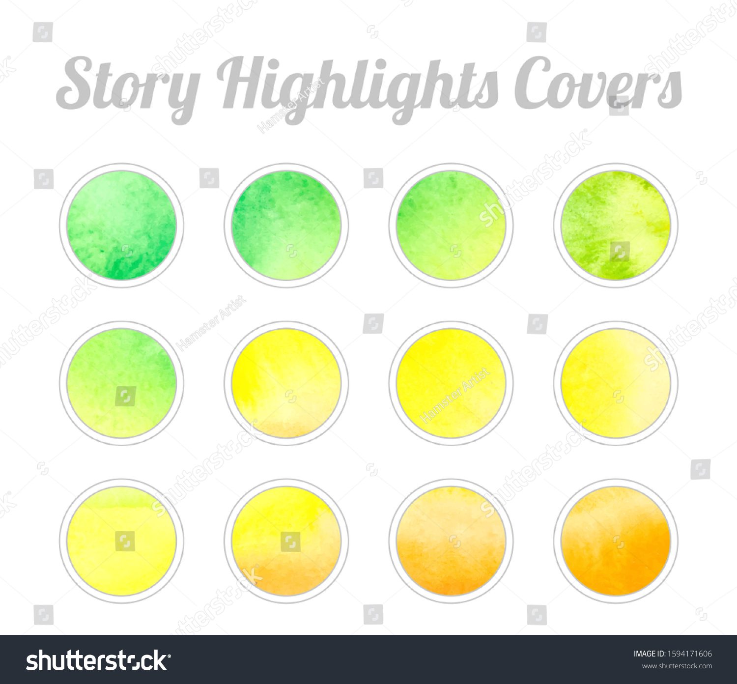 Set Instagram Story Highlights Covers Icons Stock Vector Royalty Free 1594171606