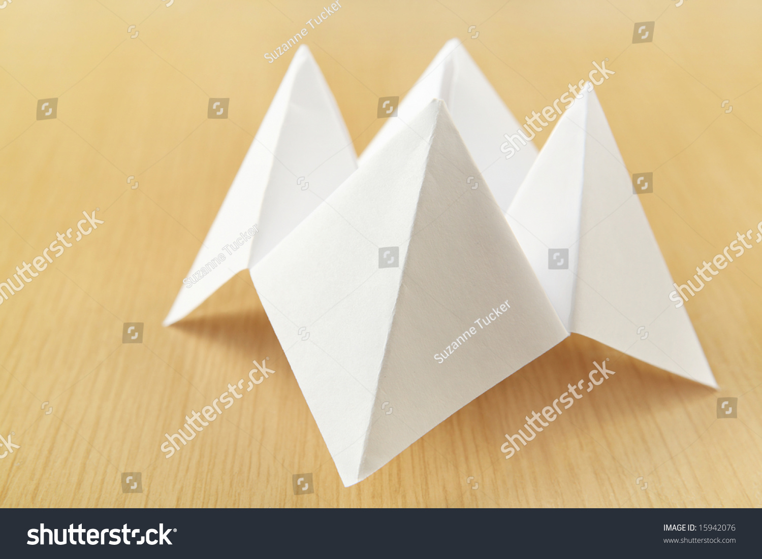 Paper cootie catcher fortune telling game stock photo 15942076 paper cootie catcher fortune telling game jeuxipadfo Images