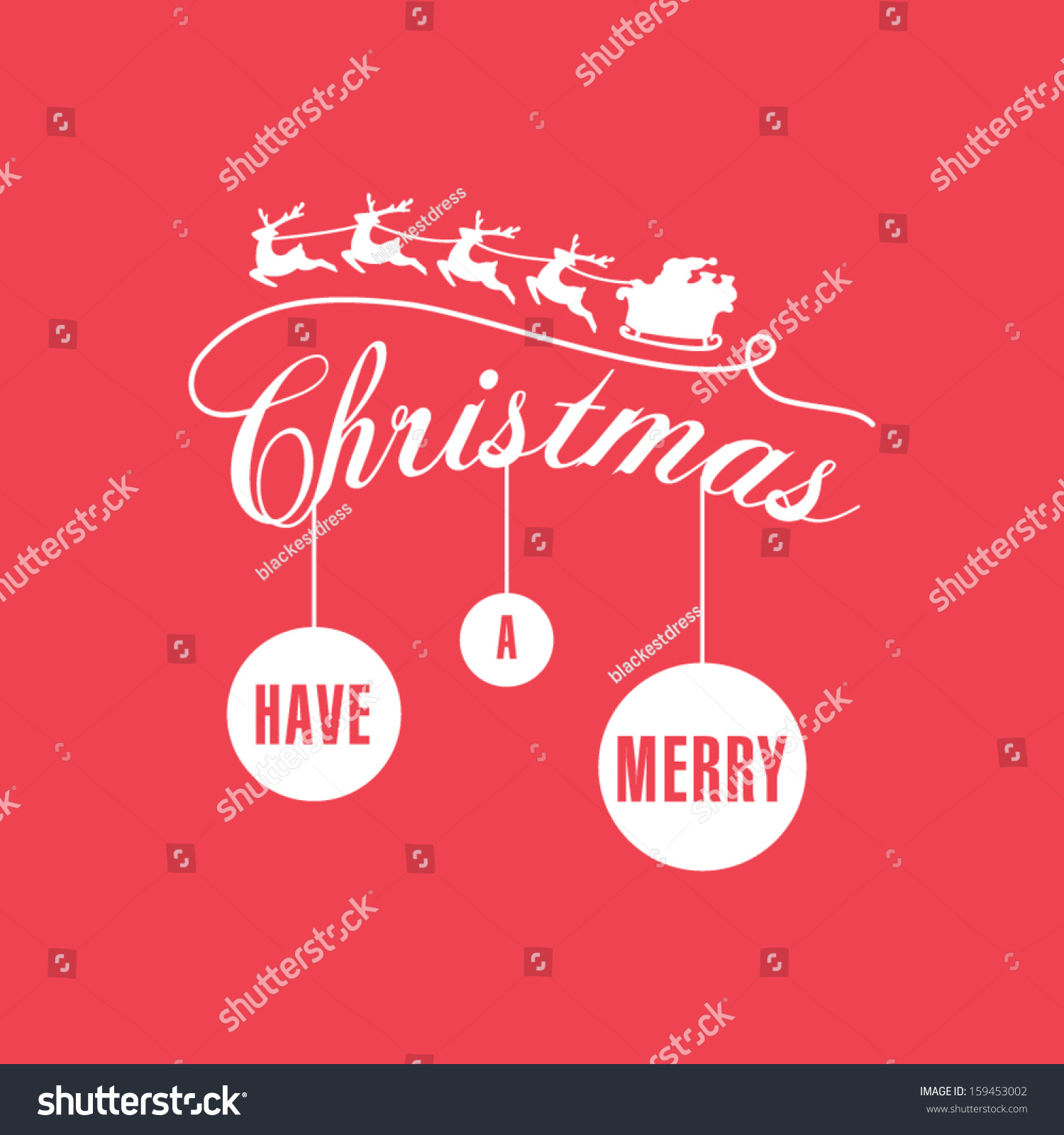 Simple modern christmas card stock vector 159453002 shutterstock m4hsunfo