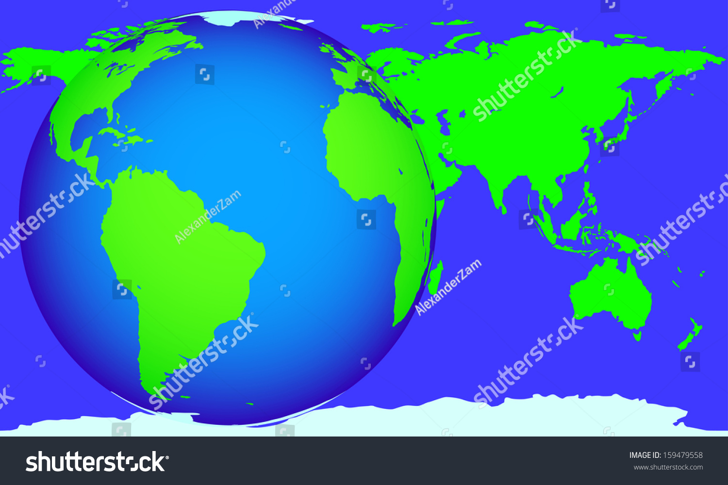 Globe World Map Located On Different Stock Vector (Royalty ... on different world flags, different countries of the world, different boxes, different governments of the world, different mountains, types of maps, different flowers, thematic map, mappa mundi, different map projections, topographic map,