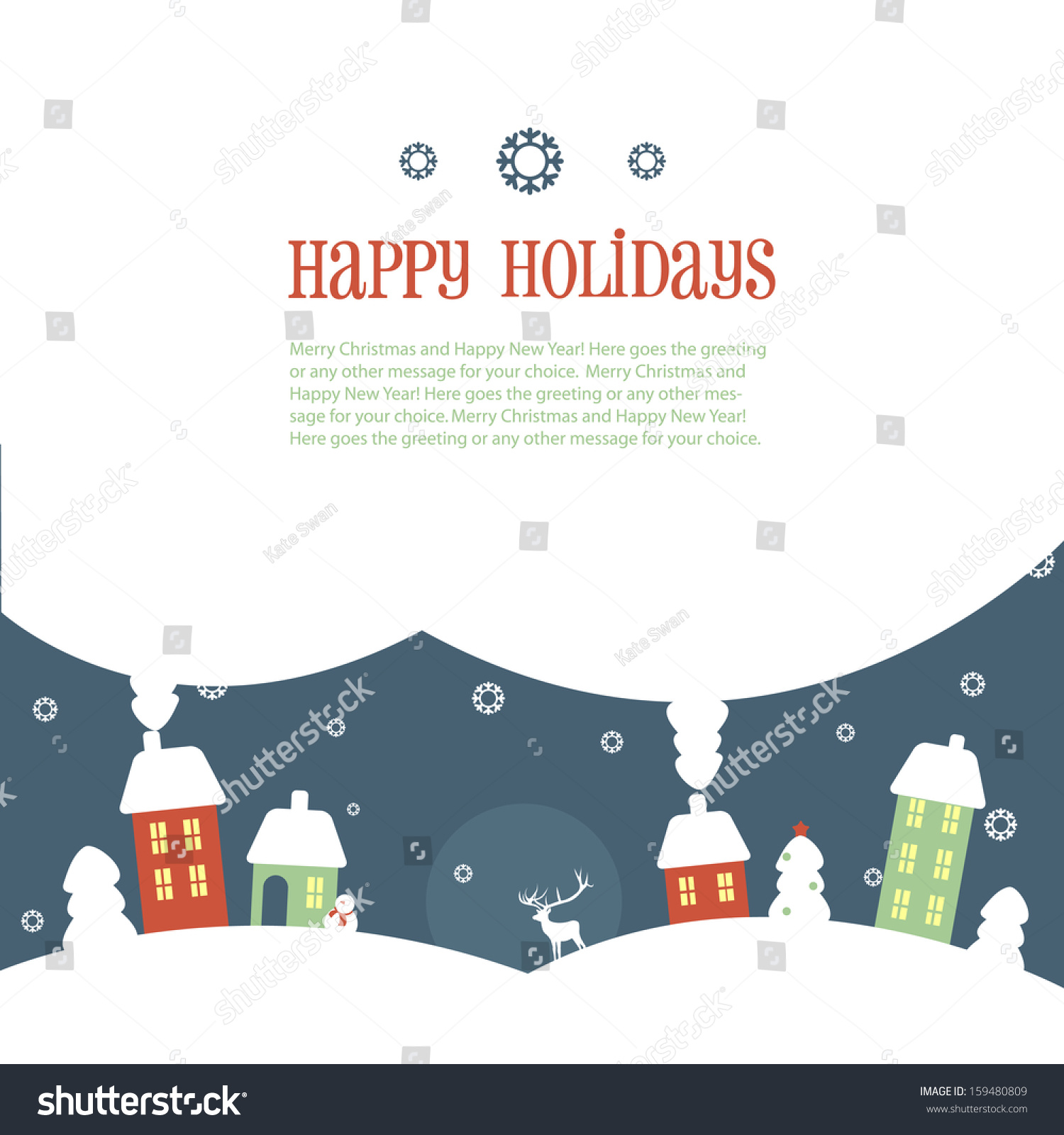 Happy holidays greeting banner stock vector 159480809 shutterstock happy holidays greeting banner kristyandbryce Gallery